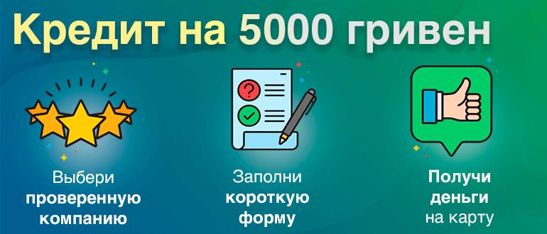Взять 5000 грн в кредит кредит по карте кукуруза онлайн заявка